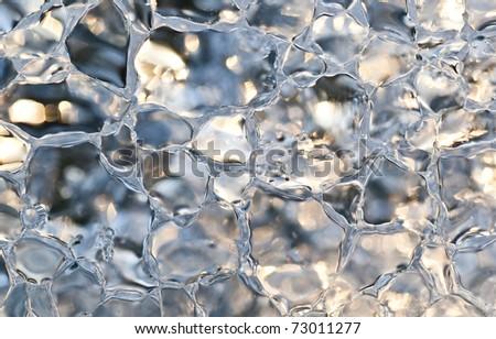Macro shot of ice crystals