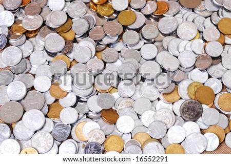 Macro shot of RMB coins
