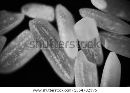 Macro shot of white rice.           Stockfoto ©