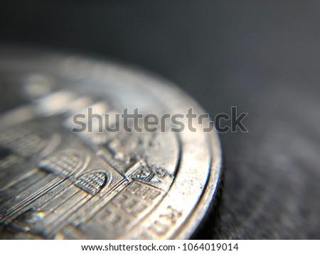 Macro shots of American coins Stock fotó ©