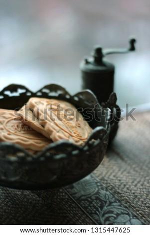 macro still life - baking and vase #1315447625