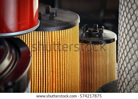 macro texture background pieces of replaceable cartridges of air filters #574217875