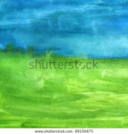 macro texture  blue green watercolors with brush strokes