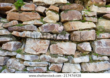 macro texture isolated fragment stone wall in natural lighting