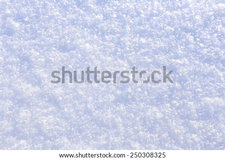 macro texture of pure snow in the sunshine