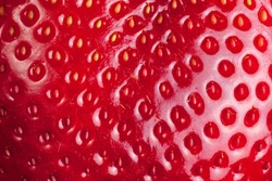 Macro texture of strawberry. Food background.