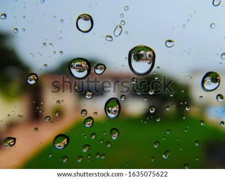 Macro with some droplets on the window