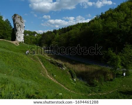 Maczuga Herkulesa, Pieskowa Skała, Sułoszowa, Ojców National Park Zdjęcia stock ©