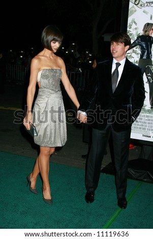 Mad Money Premiere held at Mann Village Theater, Los Angeles Tom Cruise and Katie Holmes