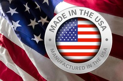 Made in America on American flag