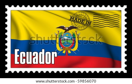 Made in Ecuador original stamp