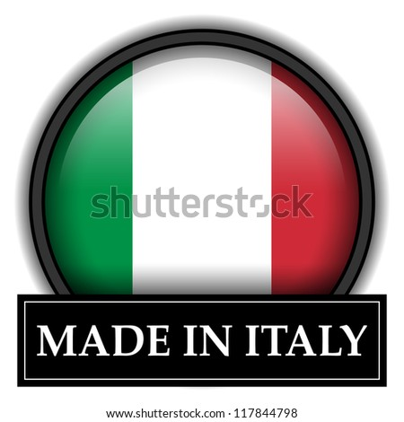 Made in flag button series - Italy