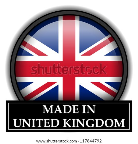 Made in flag button series - United Kingdom