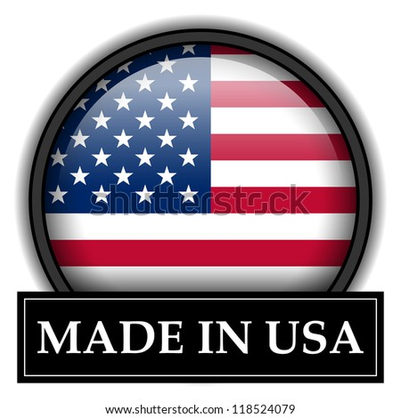Made in flag button series - USA