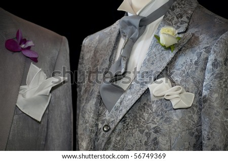 Made in Italy: fashion atelier that produces tailor-made wedding dresses for men and women - stock photo