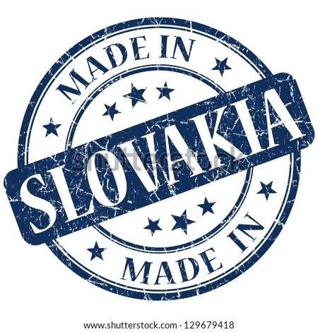 made in Slovakia stamp - stock photo