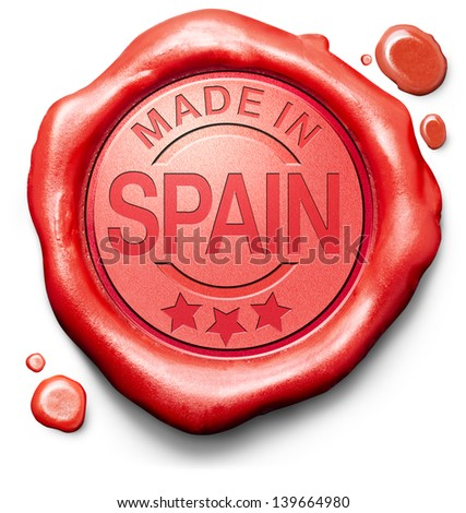 made in Spain original product buy local buy authentic Spanish quality label red wax stamp seal