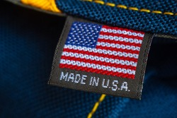 Made in USA label textile