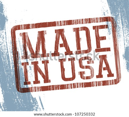 Made in USA stamp. Raster version.