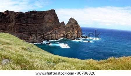Madeira - Ponta do Sao Laurenco, Cliffs along the Atlantic Ocean, Portugal