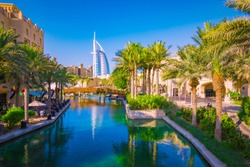 Madinat Jumeirah district in Dubai.