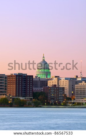 Madison, Capitol city of Wisconsin.