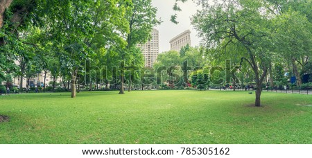 Madison Square Park, New York City. #785305162