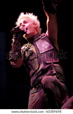 MADISON, WI - SEP. 5: Spider One (Michael Cummings) of Powerman 5000 performs live at the WJJO Rock stage at Taste of Madison in Madison, Wisconsin on September 5, 2010.