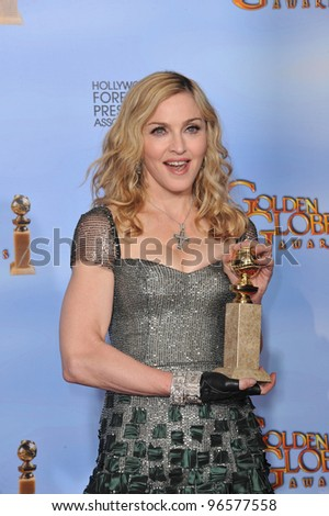 Madonna at the 69th Golden Globe Awards at the Beverly Hilton Hotel. January 15, 2012  Beverly Hills, CA Picture: Paul Smith / Featureflash
