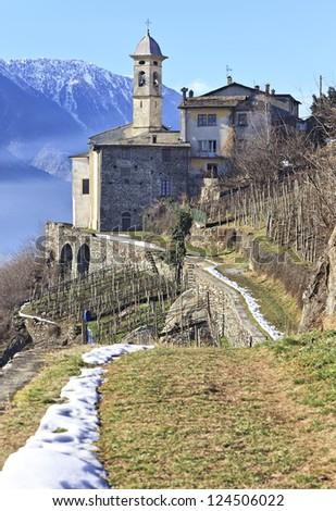 Madonna della Sassella sanctuary, Sondrio, Valtellina, Italy