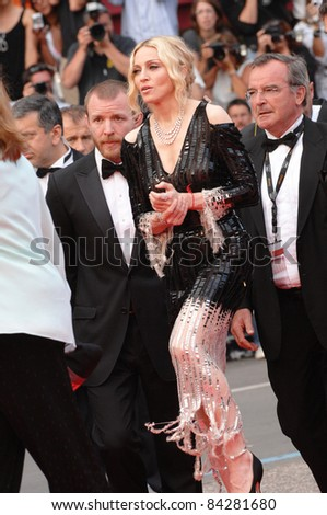 "Madonna & husband Guy Ritchie at the premiere of ""Che"" at the 61st Annual International Film Festival de Cannes.  May 21, 2008  Cannes, France. Picture: Paul Smith / Featureflash"
