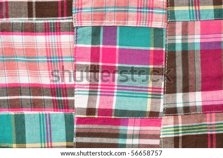 Madras Plaid fabric useful as a background pattern or texture