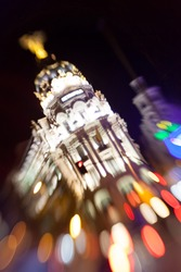 Madrid by Night Lights Bokeh
