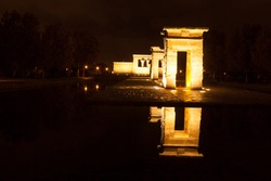 Madrid by night Templo de debod