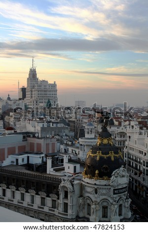 Madrid city center view