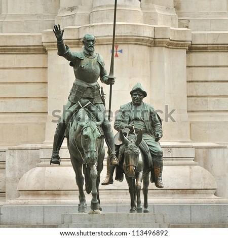 Madrid. Don Quixote statue