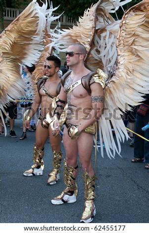 MADRID - JULY 3: Gay Pride Celebration in Madrid, Spain on Saturday July 3, 2010, angels