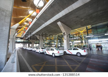 Madrid March 7 Taxi Near Barajas Airport On March 7