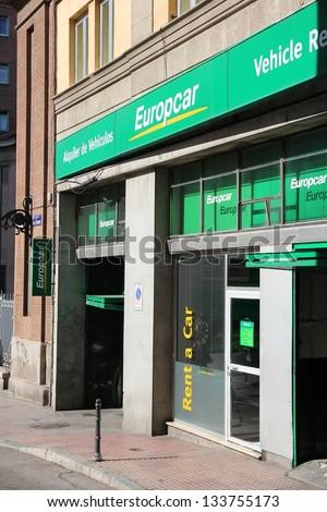 Madrid October 22 Europcar Branch On October 22 2012 In Madrid
