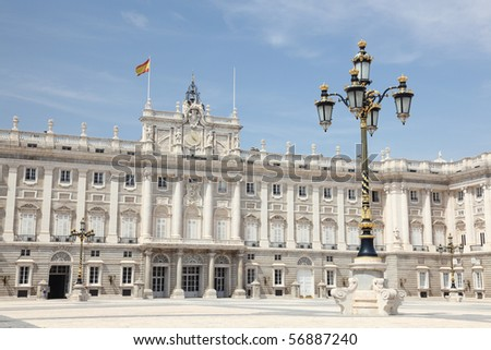 Madrid - Royal Palace. Palacio de Oriente, Madrid landmark, Spain.