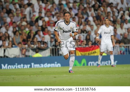MADRID, SPAIN - AUGUST 29: Mezut Azil during the Supercopa, Real Madrid vs FC Barcelona, on August 29, 2012 at the Santiago Bernabeu Stadium.