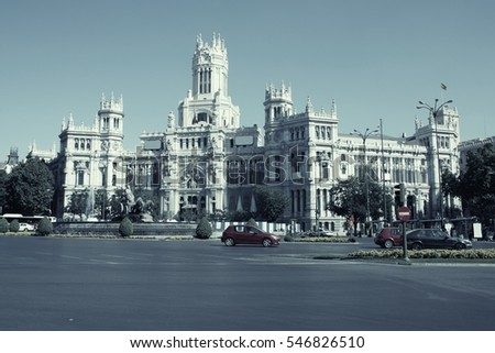 Madrid, Spain. Desaturated color style. - Shutterstock ID 546826510