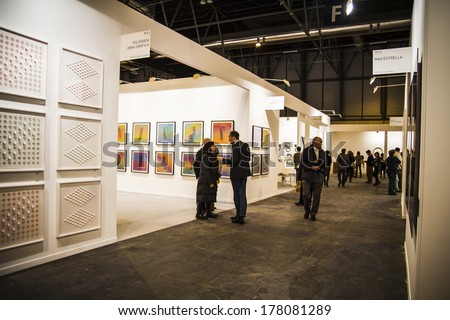 MADRID SPAIN 19 FEBRUARY 2014 ARCOmadrid contemporary art fair begins its 33rd edition Madrid Spain