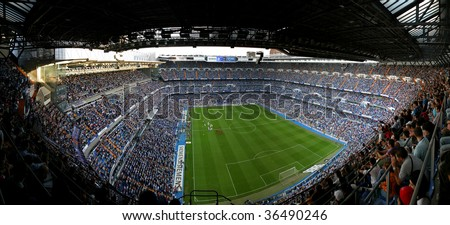 MADRID, SPAIN - Sept 7:  Santiago Bernabeu Stadium, Madrid, Real Madrid  game September 7, 2005