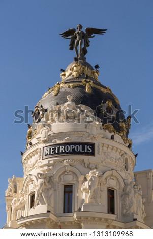 Madrid square, Spain.