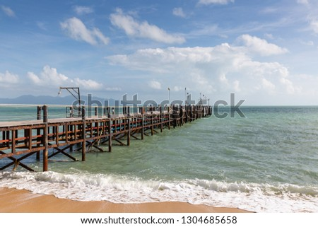 Mae Nam Pier on Ko Samui island, Thailand, Asia #1304685658