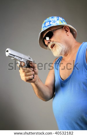 mafia senior member with gun