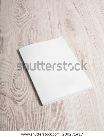 Magazine cover with blank white page mockup