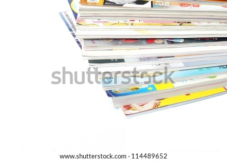 magazine on white background