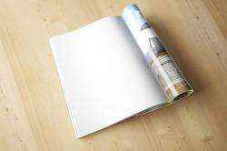 Magazine page concept